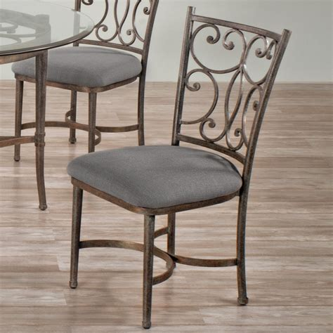 haywood iron upholstered dining chair by wesley allen