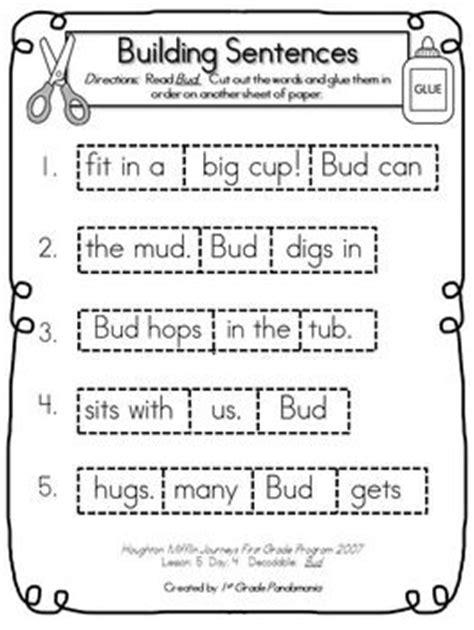 journeys st grade building sentences  decodables