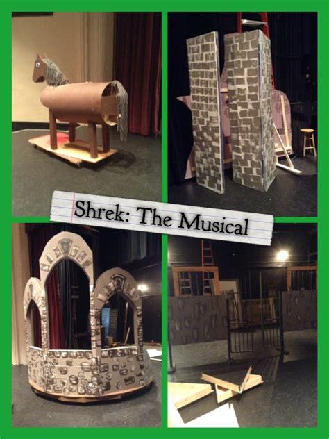 shrek  musical set design building  cartershand