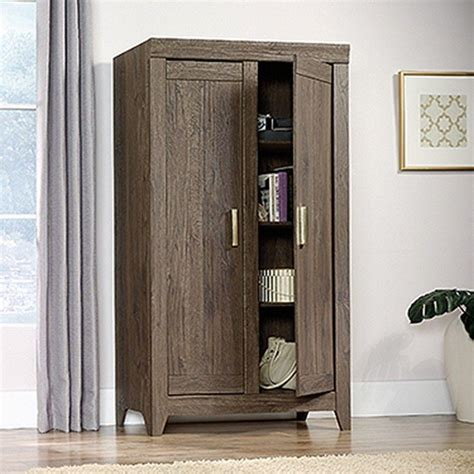 Sauder Wall Cabinet by Sauder Adept Fossil Oak Storage Cabinet 418142 The Home