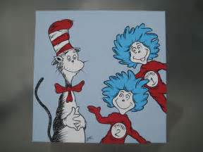 cat in the hat thing 1 and thing 2 items similar to 12x12 quot dr seuss style cat in the hat