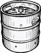 Keg Clip Clker Clipart Beer sketch template