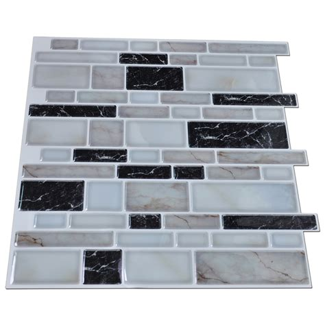 kitchen backsplash stickers peel n stick kitchen backsplash tile brick pattern