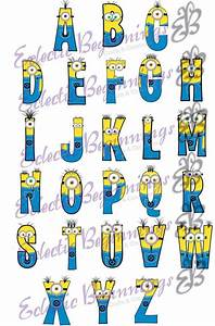 alphabet png digital file diy print clip art minions With classroom alphabet letters