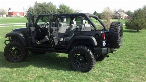 modified 4 door jeep wrangler sell used custom black 2007 jeep wrangler lifted 4 door