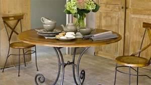 Table Bois Et Fer : table bois blanc maison du monde ~ Teatrodelosmanantiales.com Idées de Décoration