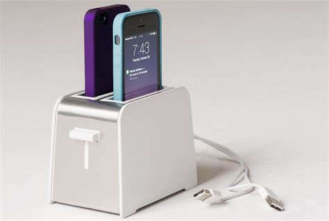 cool iphone chargers foaster iphone dock noveltystreet