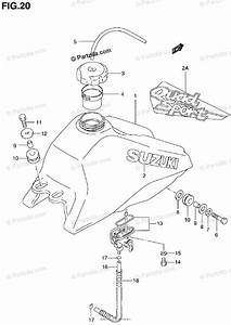 Suzuki Atv 1999 Oem Parts Diagram For Fuel Tank  Model T  V