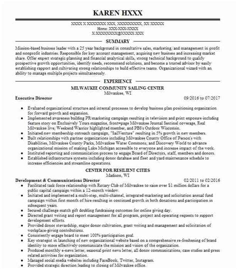 Fundraising Resume by 6284 Development And Fundraising Resume Exles