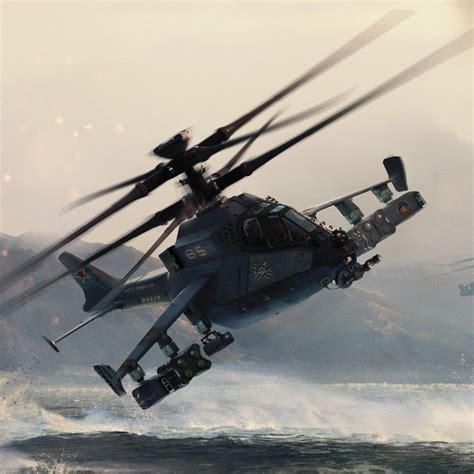 Futuristic Attack Helicopter Design