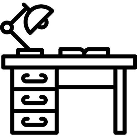 Office Desk Icon by Desk Free Furniture And Household Icons