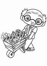 Lan Kai Ni Hao Coloring Ye Grandpa Cart Pulling Mr Food Flowers Pages Template Netart sketch template