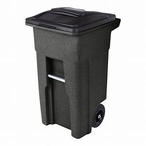 Toter, 32, Gal, Trash, Can, Blackstone, With, Wheels, And, Lid, -, Walmart, Com