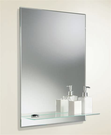 Small Glass Shelf Bathroom by Hib Delby Rectangular Bevelled Edge Mirror With Glass