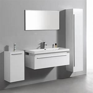 3 Suisses Meuble Salle De Bain : import diffusion ensemble complet meuble de salle de bain rio 1 vasque 1 miroir blanc ~ Teatrodelosmanantiales.com Idées de Décoration