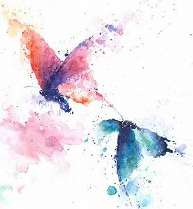 BUTTERFLY PAINTING abstract butterfly watercolor by ...