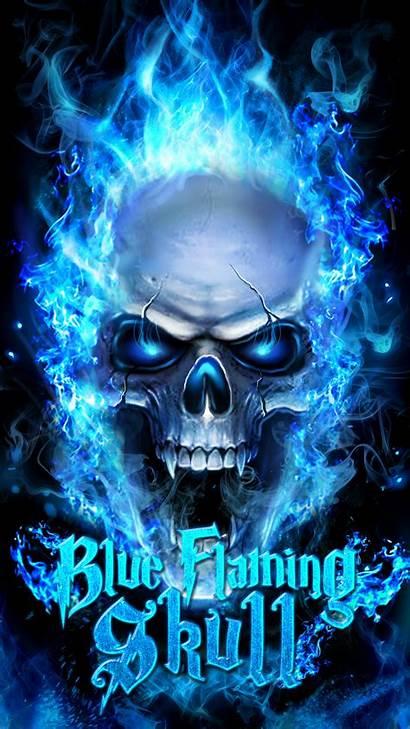 Flaming Skulls Skull