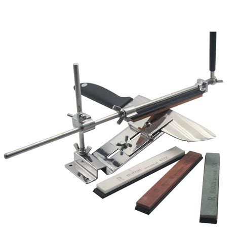 Kitchen Knife Sharpening Jig by Professional Kitchen Knife Sharpening System With 4 Stones
