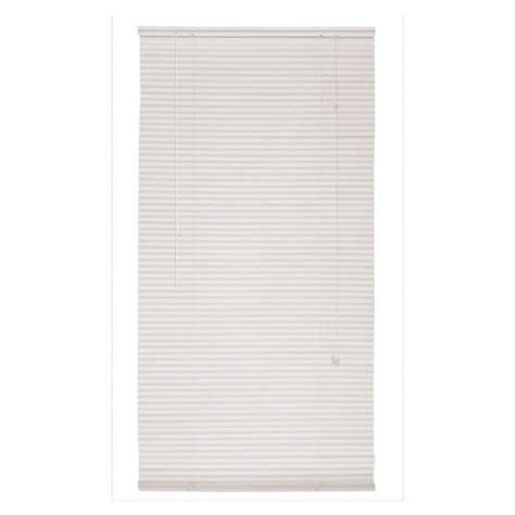 mini blinds lowes shop custom size now by levolor 27 quot x 70 quot white mini