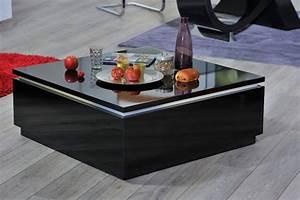 Table Basse Noire Design : table basse electra laque noir noir brillant ~ Teatrodelosmanantiales.com Idées de Décoration