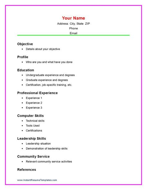 high school resume template free premium