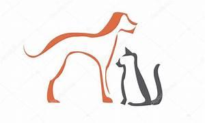 Dog and cat silhouette — Stock Vector © Morangoart #11113629