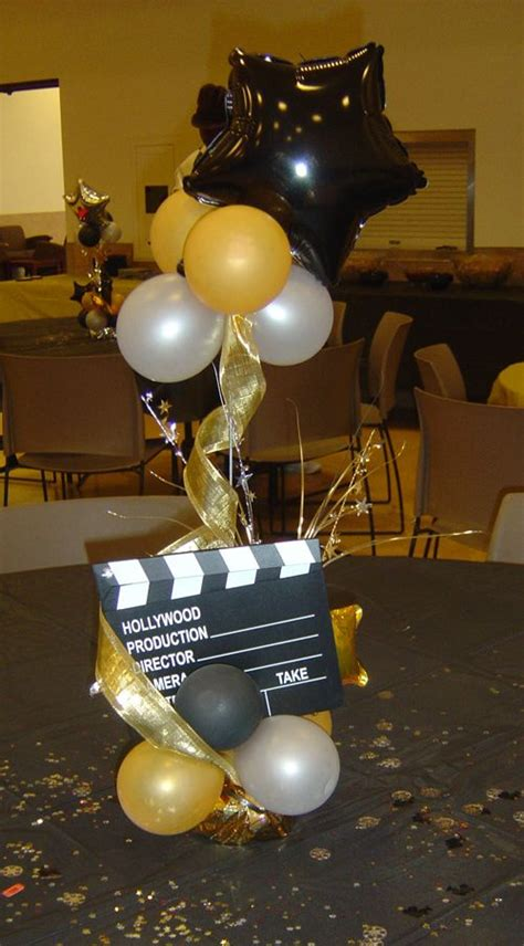 Hollywood Parties Ideas  Hollywood Themed Centerpiece