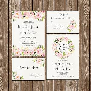 invitation kit wedding invitation floral watercolor With wedding invitations and rsvp kits