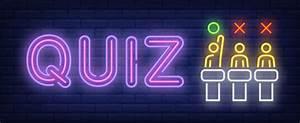 Quiz Neon Sign Vector