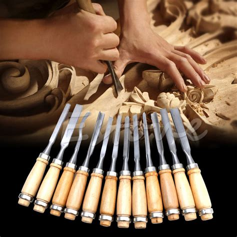 pcs wood carving hand chisel tool set woodworking