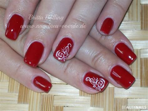 rote nägel design rote n 228 gel f 252 223 e mit nagellack gel nageldesign 2019