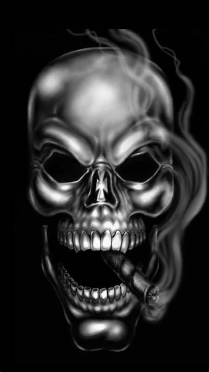 Scary Gangsters Skull Guns Smoking Skeleton Wallpapers