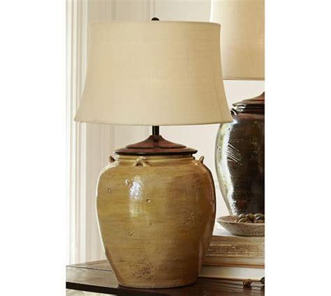 Courtney Ceramic Table Lamp Base   Yellow   Pottery Barn