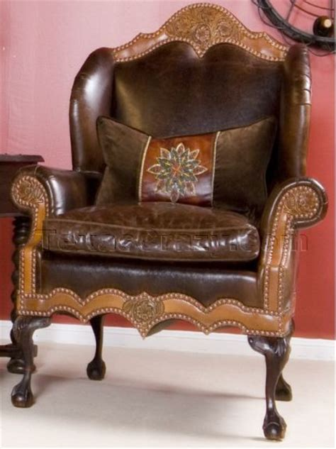 buy chisholm leather wing chair western style furniture
