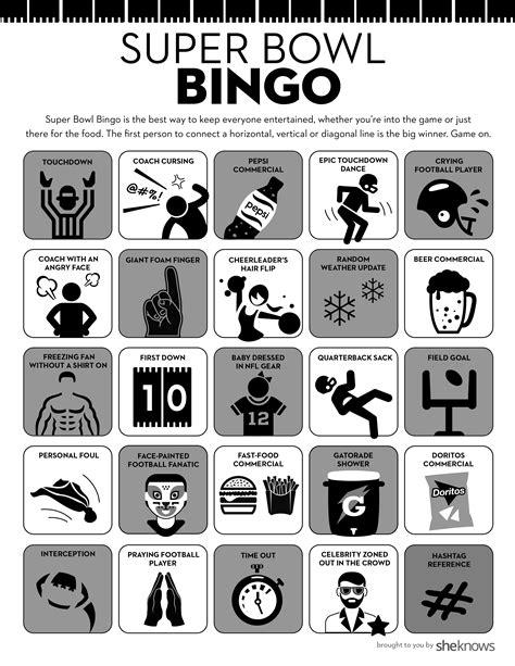 super bowl bingo   perfect party game