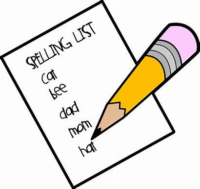 Spelling Clipart Clip Words Write Clipartion