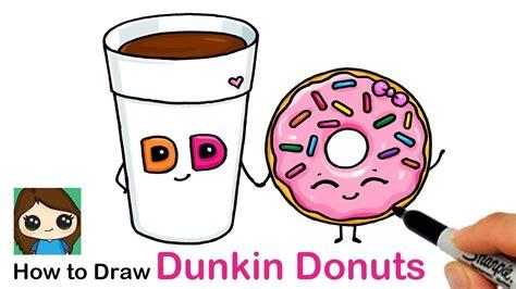 Comment dessiner une trousse dessins kawaii aussi facile est le thème de notre vidéo aujourd'huidessiner une trousse étape par étape, dessins kawaii facile e. How to Draw a Cup of Coffee and Donut Easy | Dunkin Donuts - YouTube