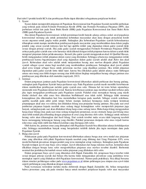 komparasi mekanisme produk pegadaian syariah dg konvensional