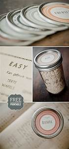 8 best images of blank printable labels mason jar free With canning jar lid labels