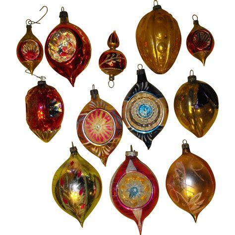 dozen vintage glass ornaments poland christmas sold on