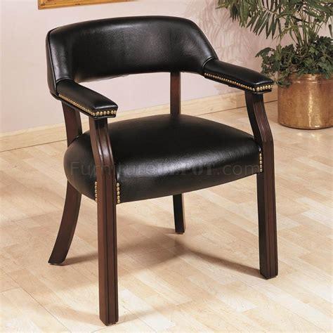 black vinyl classic commercial office chair w nailhead trim