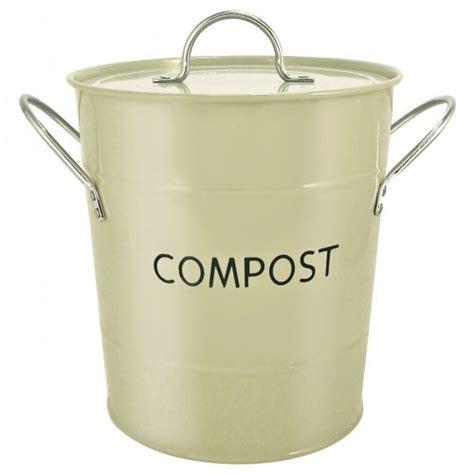 Bins & Storage (uk) Sage Green Kitchen Compost Bin