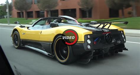 old pagani yellow pagani zonda cinque takes over the streets of la