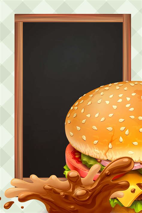 hand painted vector western fast food hamburger posters
