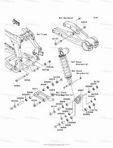 Kawasaki Atv 2008 Oem Parts Diagram For Rear Suspension