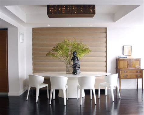 modern aesthetic  vintage touches banquette seating