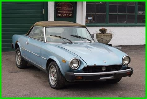1982 Fiat Spider 2000 by 1982 Fiat 2000 Spider No Reserve For Sale Fiat Other