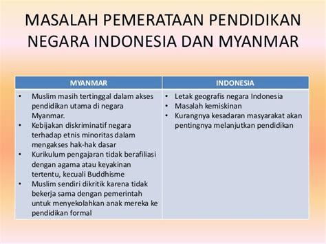 perbandingan jenjang pendidikan myanmar  indonesia