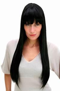 Lange Glatte Haare : per cke schwarz lang glatte haare gerade fallend pony perr cke cm 3113 1b kaufen bei vk ~ Frokenaadalensverden.com Haus und Dekorationen