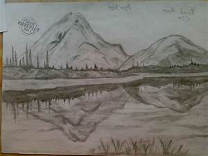 Best Nature Scene Drawing - Drawing Of Sketch